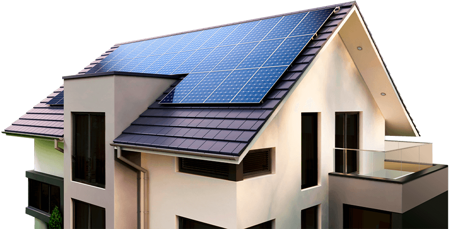 Casa com energia solar Perfect Soluções luzes